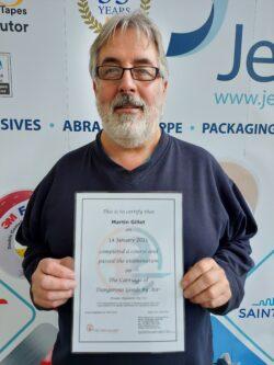 Martin DG certificate 18 03 21