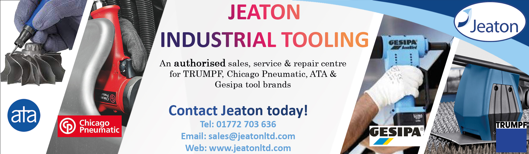 Industrial Tooling Authorised Email Banner